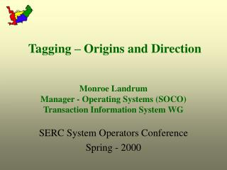 SERC System Operators Conference Spring - 2000