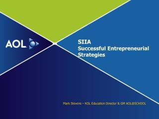SIIA  Successful Entrepreneurial Strategies