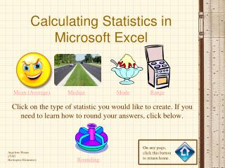 Calculating Statistics in Microsoft Excel