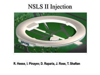 NSLS II Injection