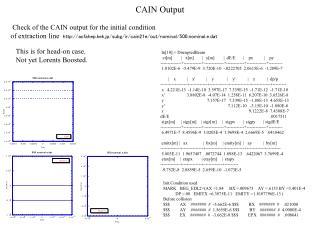 CAIN Output