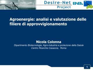 Agroenergie: analisi e valutazione delle filiere di approvvigionamento