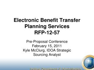 Electronic Benefit Transfer Planning Services RFP-12-57