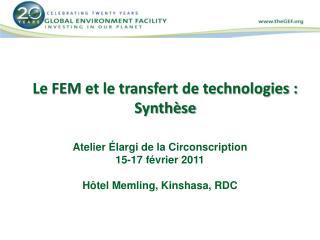 Le FEM et le transfert de technologies :  Synth�se