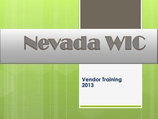 Nevada WIC