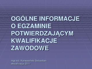Egzamin zawodowy 2012