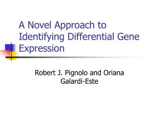 A Novel Approach to Identifying Differential Gene Expression