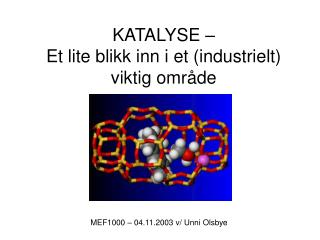 KATALYSE – Et lite blikk inn i et (industrielt)  viktig område