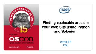 Finding cacheable areas in your Web Site using Python and Selenium