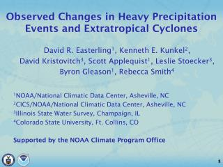 Observed Changes in Heavy Precipitation Events and Extratropical Cyclones