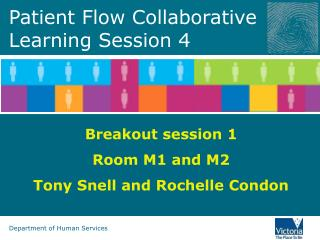 Patient Flow Collaborative  Learning Session 4