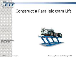Construct a Parallelogram Lift