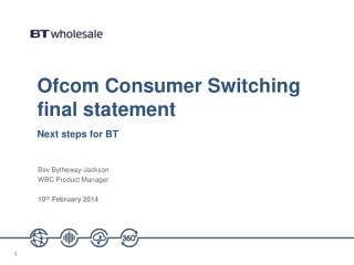 Ofcom Consumer Switching final statement