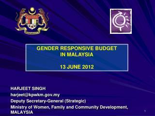 HARJEET SINGH harjeet@kpwkm.my Deputy Secretary-General (Strategic)