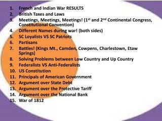 French and Indian War RESULTS British Taxes and Laws