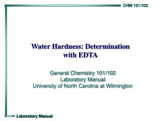 Water Hardness: Determination with EDTA