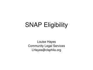 SNAP Eligibility