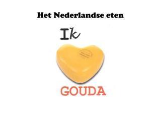Het Nederlandse eten