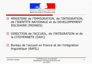 Les dispositifs d'apprentissage du français en 2010