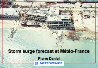 Storm surge forecast at Météo-France