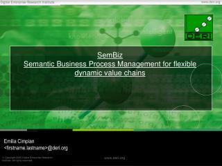 SemBiz Semantic Business Process Management for flexible dynamic value chains
