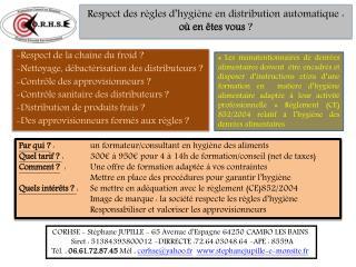 Respect des règles d'hygiène en distribution automatique : où en êtes vous  ?