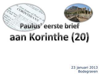Paulus' eerste brief aan Korinthe (20)