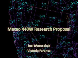 Meteo  440W Research Proposal