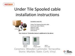 Under Tile Spooled cable installation instructions