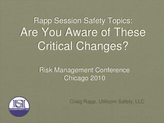 Rapp Session Safety Topics: Are You Aware of These Critical Changes?