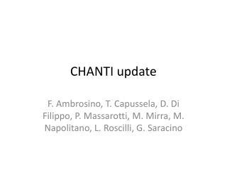 CHANTI update