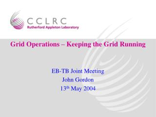 Grid Operations – Keeping the Grid Running