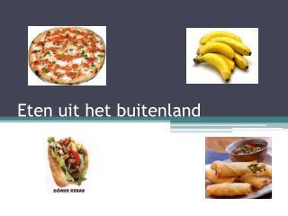 Eten uit het buitenland