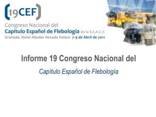 Informe 19 Congreso Nacional del