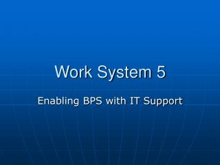 Work System 5