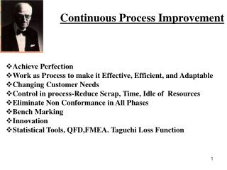 Continuous Process Improvement
