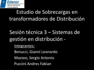 Estudio de Sobrecargas en transformadores de Distribución