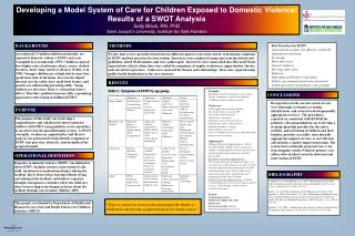 Developing a Model System of Care for Children Exposed to Domestic Violence: