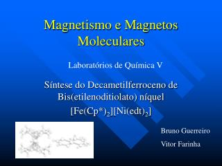 Magnetismo e Magnetos Moleculares