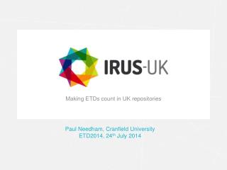 Making ETDs  count in UK repositories