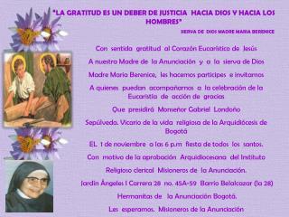 """"""" LA GRATITUD ES UN DEBER DE JUSTICIA  HACIA DIOS Y HACIA LOS HOMBRES"""""""