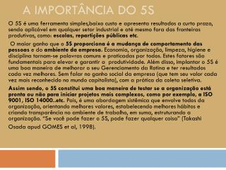 A importância do 5S