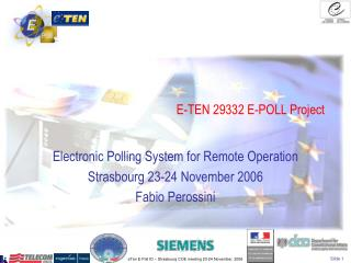 E-TEN 29332 E-POLL Project