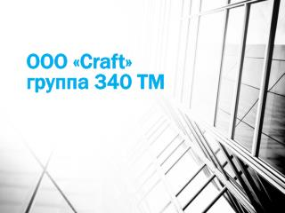 ООО « Craft » группа 340 ТМ