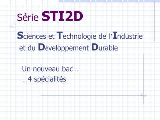 Série  STI2D