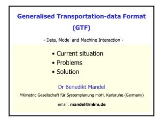 Generalised Transportation-data Format (GTF)