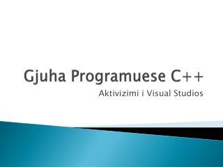 Gjuha Programuese  C++