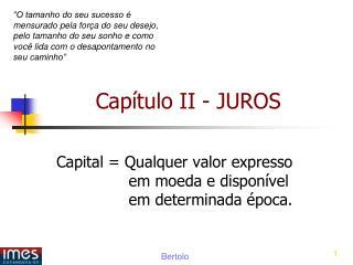 Cap tulo II - JUROS