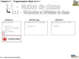 3.1  -  Notion de classe