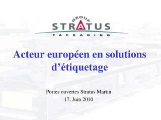Acteur européen en solutions d'étiquetage